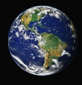 stock photo of planet earth  - High resolution 3d render of planet - JPG