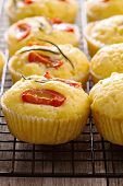 Savory muffins with corn flour