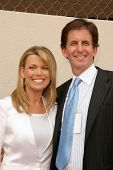 HOLLYWOOD - APRIL 20: Vanna White and Fiance Michael Kaye at the Ceremony honoring Vanna White with
