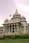 stock photo of vidhana soudha  - Vidhana Souda Bangalore houses the legislature of the state of Karnataka in India - JPG
