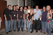 K.C. Armstrong, Artie Lange, Nick Di Paolo, Reverend Bob Levy, Gary Dell'Abate and clients at the FM
