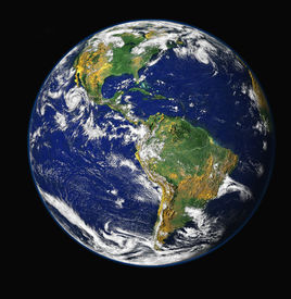 foto of planet earth  - High resolution 3d render of planet - JPG