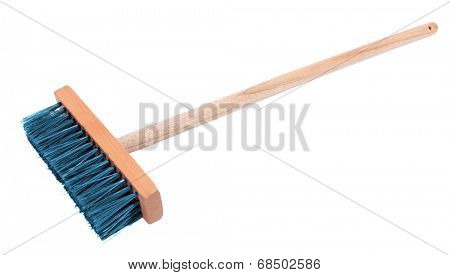 Colorful broom isolated on white