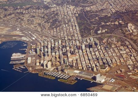 Aerial View Of San Diego, California