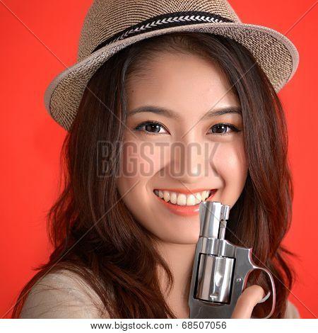 Young Asian Cute Woman