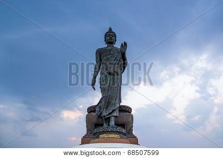 Walking Buddha Statue