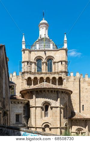 Old Cathedral Of Coimbra (portugal)