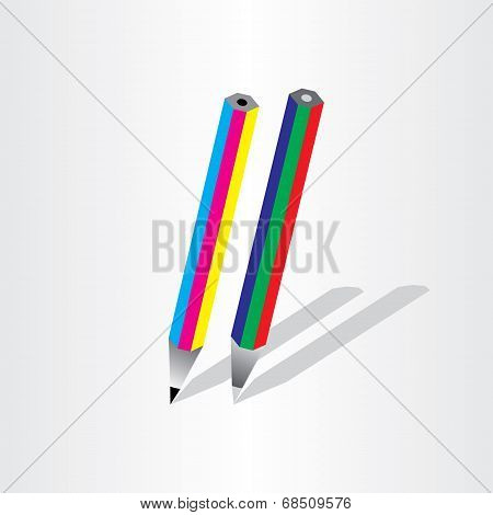 Color Pencil Rgb Cmyk