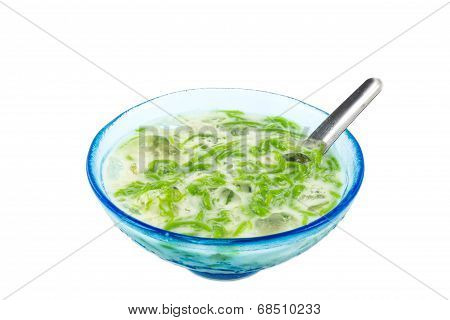 Noodles Made Of Rice Eaten With Coconut Cream