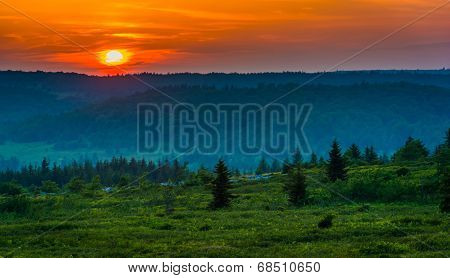 Sunset Over Dolly Sods Wilderness, Monongahela National Forest, West Virginia.