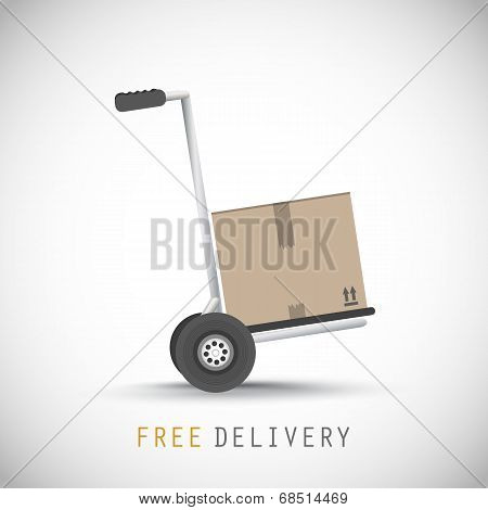 Hand truck with free delivery box