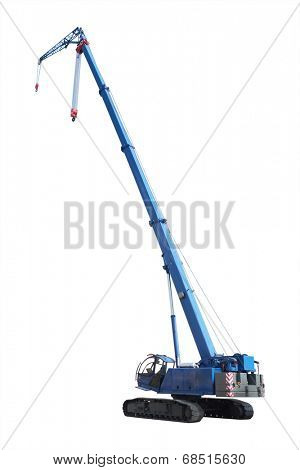 hoisting crane under the white background
