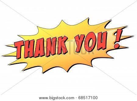 Vector Thank You Star