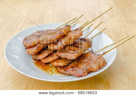 Thai Style Bbq Grilled Pork Or Moo-ping