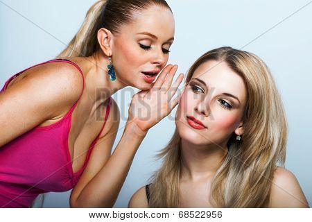 Two Young Women Sharing Secret