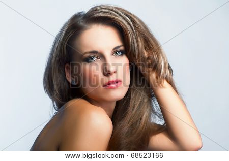 Portrait Of Young Attractive Woman