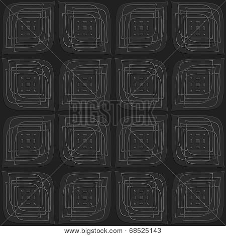 Dark Gray Leaves Embossed With Linear Embossed Details Seamless