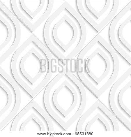 White Vertical Pointy Ovals