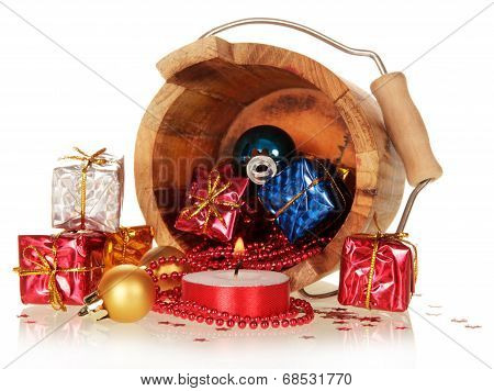 Gift boxes and christmas toys