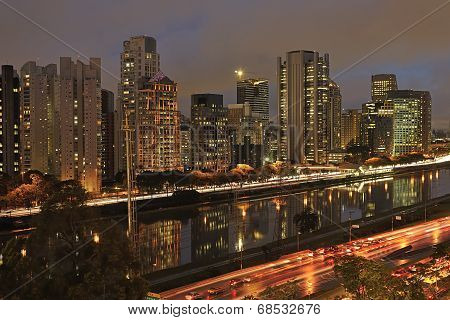 night view of the city  São Paulo Brazil