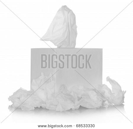 White box with tissue paper