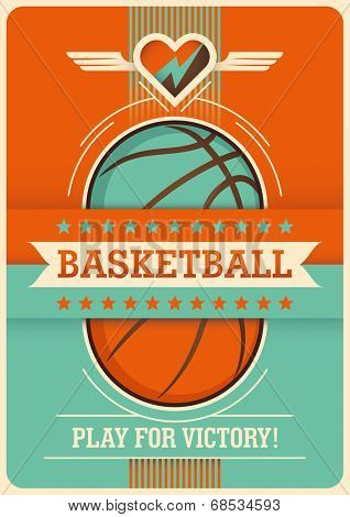 Conceptual basketball poster design. Vector illustration.