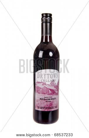 HAYWARD, CA - July 16, 2014: Drytown Cellars Red on Red Amador County wine