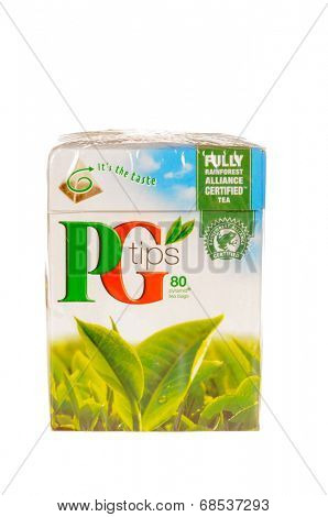 HAYWARD, CA - July 17, 2014: Box of 80 PG Tips, tea bags