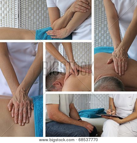 Body Massage Collage