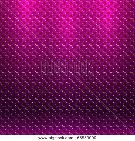 Vector abstract seamless metallic pattern with hexagon grille