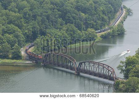 Train Along New River