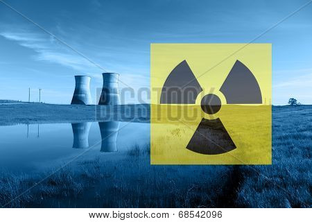 Nuclear Reactor Cooling Towers, Radiation Hazard Symbol