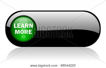 learn more black glossy banner
