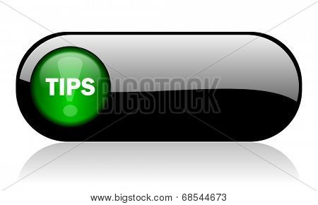 tips black glossy banner