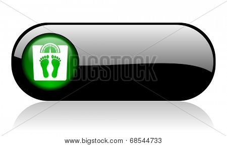 weight black glossy banner