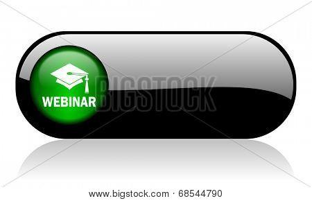 webinar black glossy banner