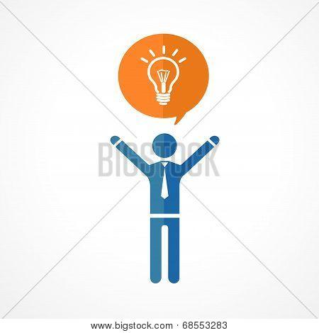 Vector human symbol silhouettes. Idea concept