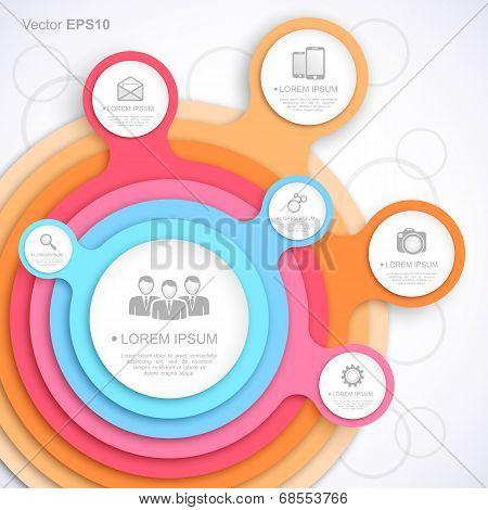 Colorful circle web template