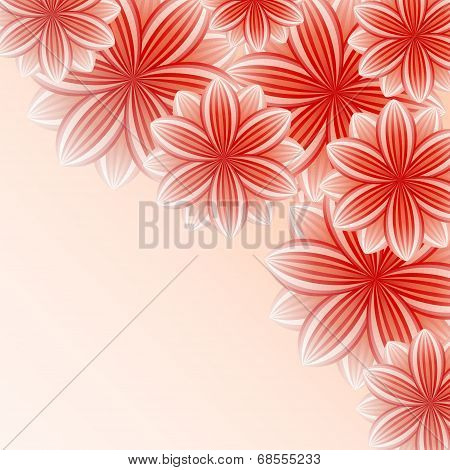 Beautiful Wallpaper With Red Flowers