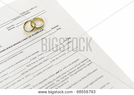 Divorce Form With Double Wedding Rings