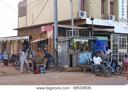 At The Corner Of A Street In Ouagadougou