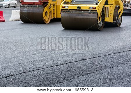Yellow Road Rollers