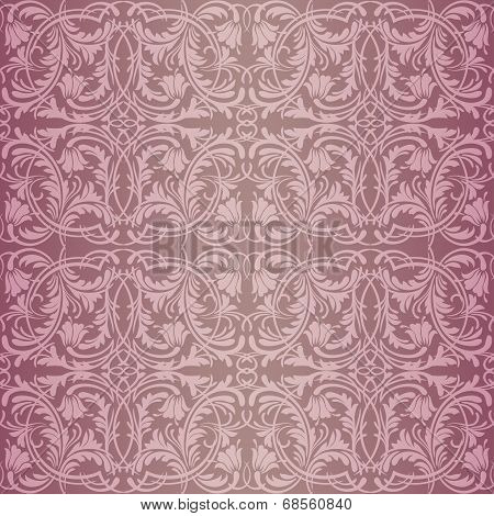 Pink baroque pattern