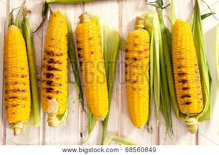 Grilled Young Corn