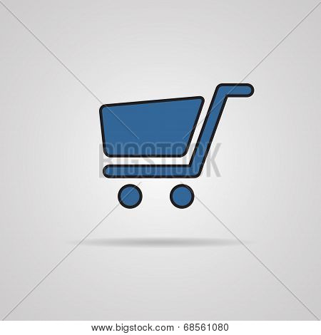 Shopping cart icons - signs for online purchases