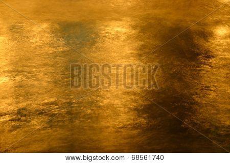 Night sea water close up