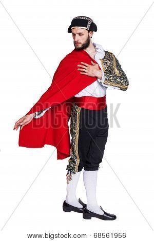 Toreador with a red cape