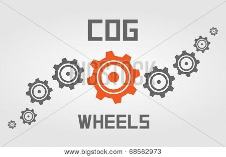 Cog wheels background