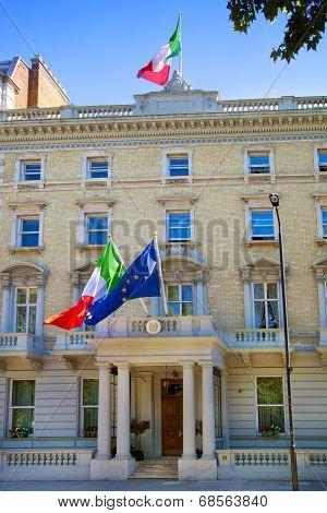 LONDON, UK - JUNE 3, 2014 Spanish Embassy