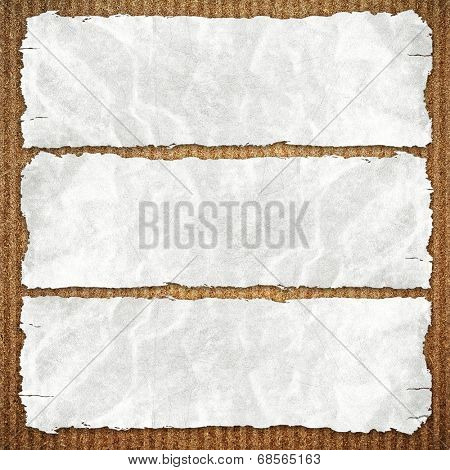 paper on chipboard background